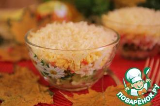 Рецепт: Слоеный салат Вкуснющий