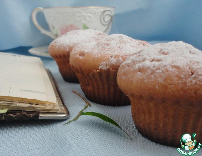 Рецепт: Творожно-лимонные кексы с шоколадной каплей