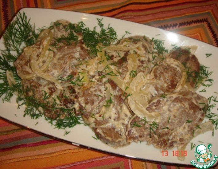 Рецепт: Закуска Пятиминутка из языка