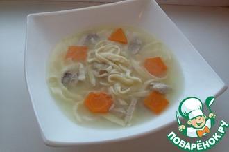 Рецепт: Детский геометрический суп с яичной лапшой