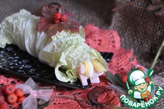 Рецепт: Рулетики из пекинской капусты