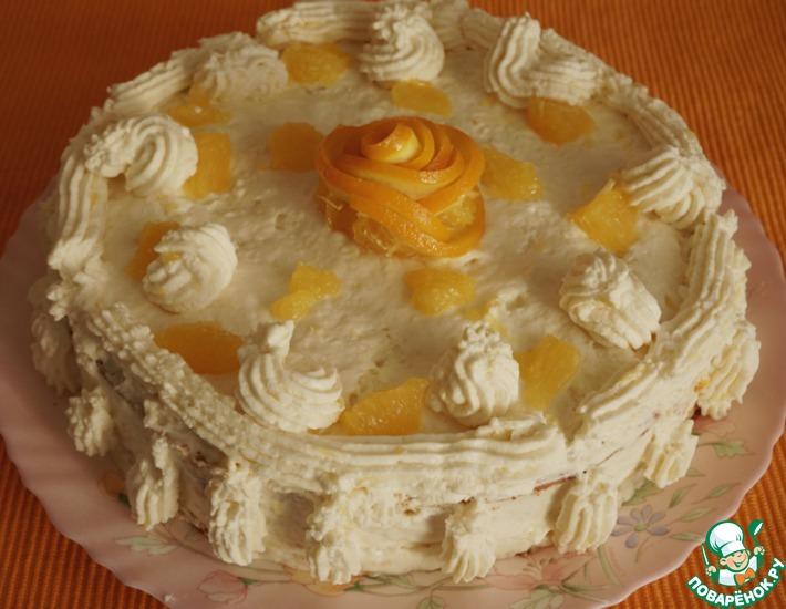 Рецепт: Морковно-апельсиновый пирог-торт Рыжий львенок