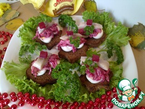 Рецепт Закусочные бутерброды с сельдью