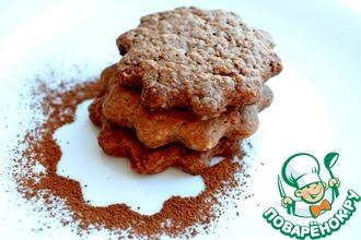 Рецепт: Шоколадно-имбирное печенье
