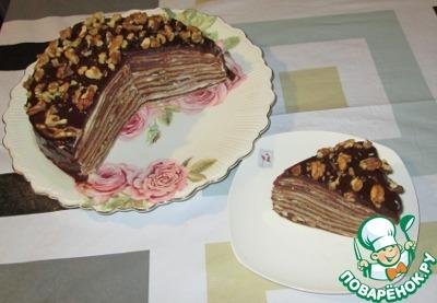 """Блинный торт """"Правнук Наполеона"""""""