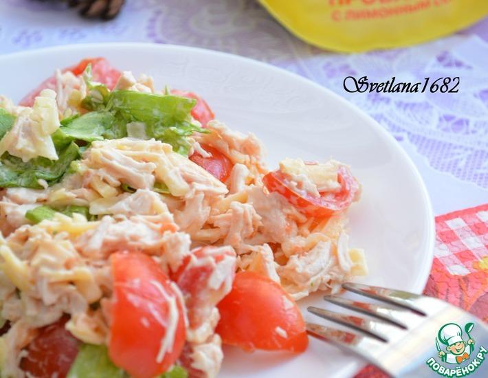 Рецепт: Салат с курицей и помидорами черри
