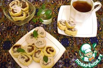 Рецепт: Печенье «Фруктовые улитки»