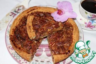 Рецепт: Открытый пирог с медово-ореховой начинкой