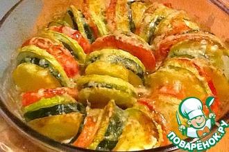 Рецепт: Овощи, запеченные с сыром