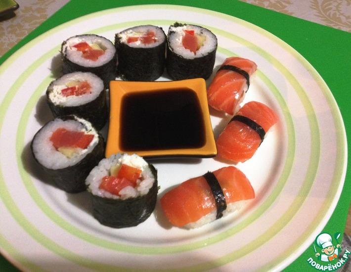 Рецепт: Нигири суши и роллы своими руками