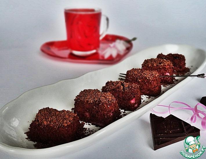 Рецепт: Ягодный десерт в шоколадной посыпке