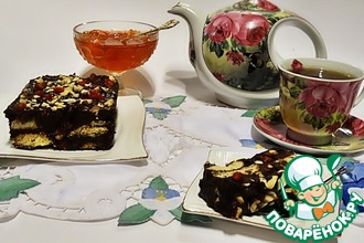 Рецепт: Шоколадный десерт с орехами