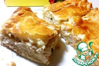 Рецепт: Слоеный пирог с курицей и картофелем