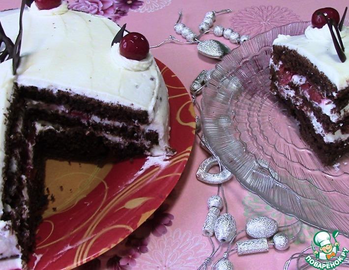 Рецепт: Шоколадный торт Зимняя вишня