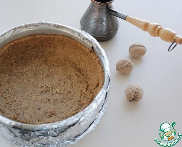 Орехово-кофейный чизкейк