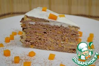 Рецепт: Печеночный торт с тыквой