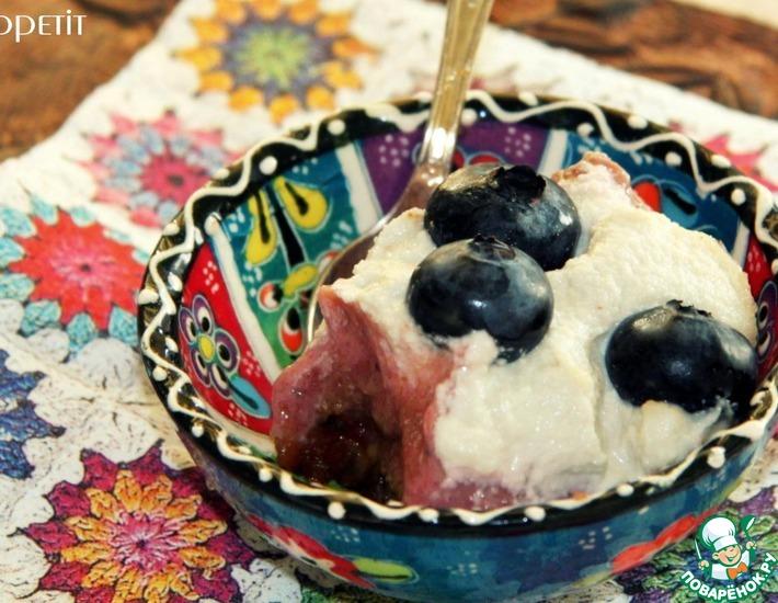 Рецепт: Кремово-клубничный сыроедческий торт-пирожное