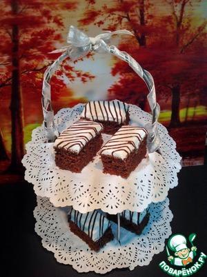 Рецепт Шоколадные пирожные с лимонной глазурью