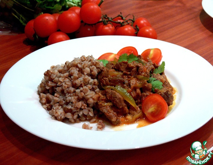 Рецепт: Тушеная говядина