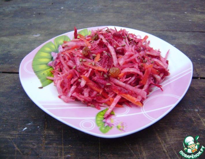 Рецепт: Салат Здоровье на тарелке
