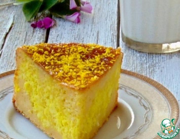 Рецепт: Творожно-кокосовый пирог