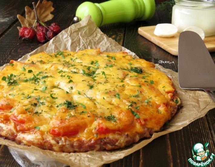 Рецепт: Пицца из пельменей