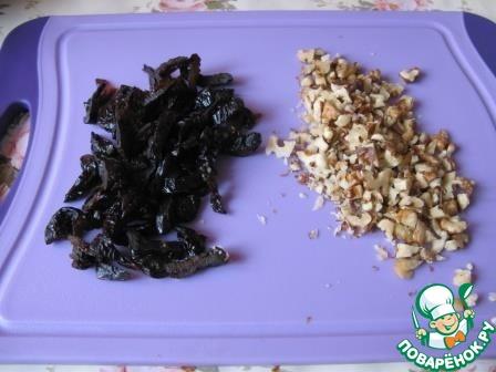 Рецепт салата из ветчины с черносливом