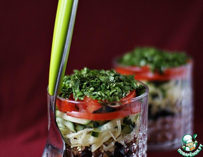 Рецепт: Салат с ветчиной и черносливом