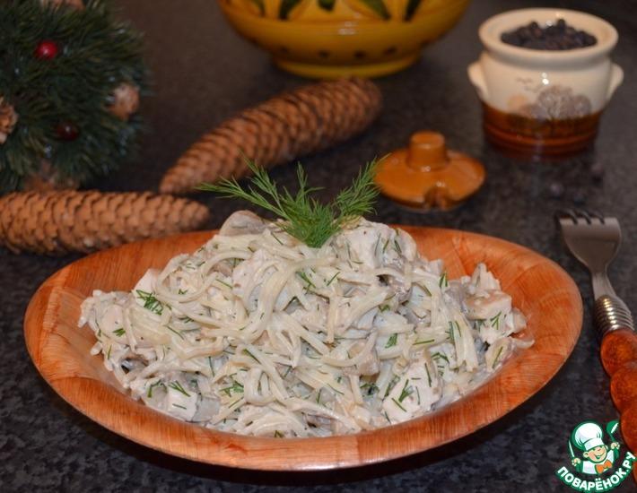 Рецепт: Салат с куриной грудкой и сельдереем