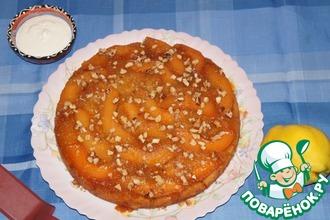Рецепт: Пирог-перевертыш с айвой
