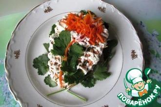Рецепт: Салат Красный цветок