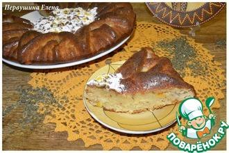 Рецепт: Мятный пирог с хурмой