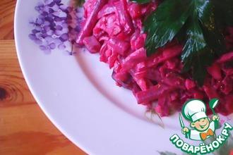 Рецепт: Свекольный салат Фигура