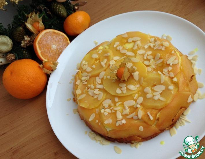 Рецепт: Творожный пирог с айвой