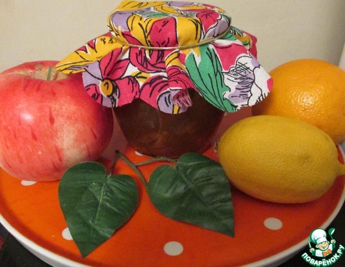 Рецепт: Яблочно-цитрусовый джем