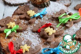 Рецепт: Печенье Новогодние мишки