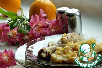 Рецепт: Апельсиновое рагу с картофелем и курицей