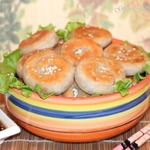 Оладьи с луково-мясной начинкой