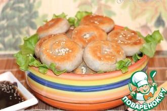 Рецепт: Оладьи с луково-мясной начинкой