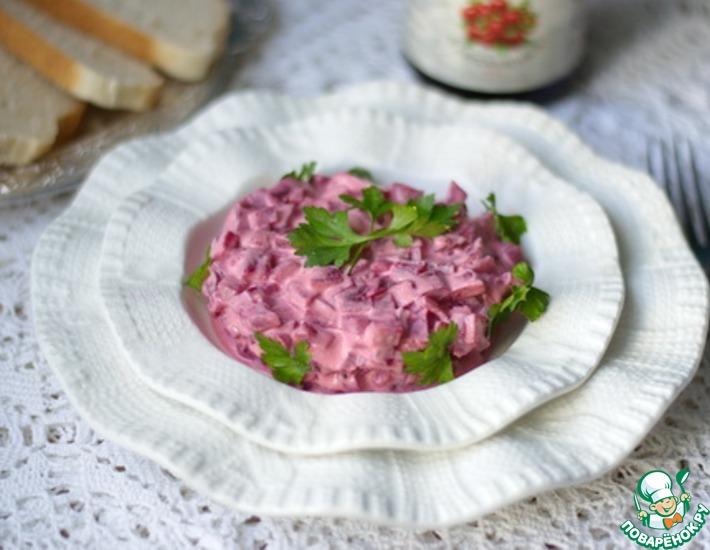 Рецепт: Свекла в яично-клюквенном соусе