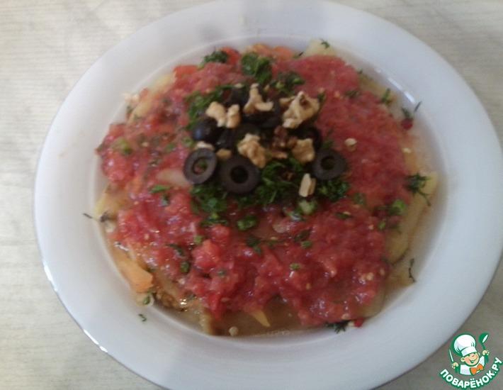 Рецепт: Салат из печеного перца