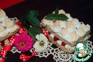 Рецепт Быстрое пирожное с клюквенным соусом D,arbo