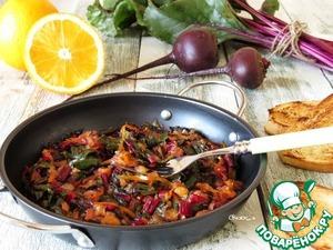 Рецепт Тёплый салат из мангольда с апельсином