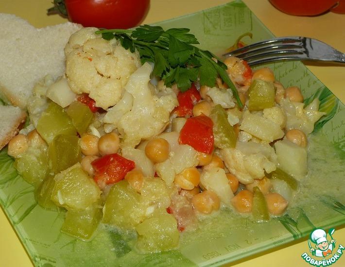 Рецепт: Овощное кокосовое карри (в мультиварке)