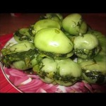 Соленые помидоры с зеленью по-грузински