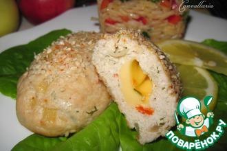 Рецепт: Куриные котлеты с яблоком и болгарским перцем