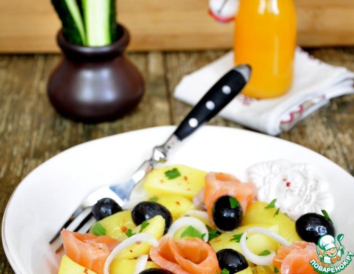 Рецепт: Маринованный лосось и картофельный салат с ним