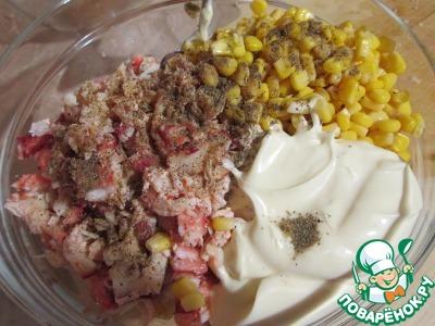 салат с крабовыми чипсами рецепт с фото