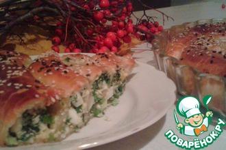 Рецепт: Пирог с зеленью
