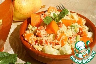 Рецепт: Салат из кус-куса и овощей